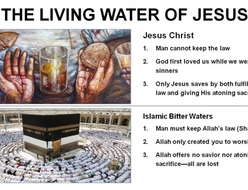 LIVING WATER NOT BITTER WATER