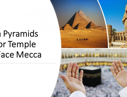 Giza Pyramids Face Mecca